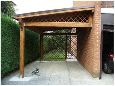 Realizzazione di una tettoia in legno nuova costruzione for 2 costi di costruzione del garage per auto